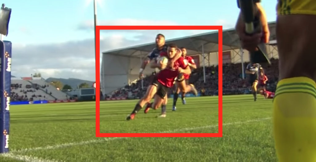 Crusaders winger clotheslined TWICE but still scores brace