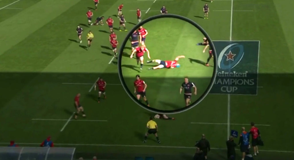 Fans show fears over increase in simulation in rugby after exaggerated Tadhg Beirne dive