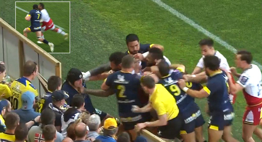Chaos in Clermont as clumsy Taqele Naiyaravoro shoulder sparks messy melee