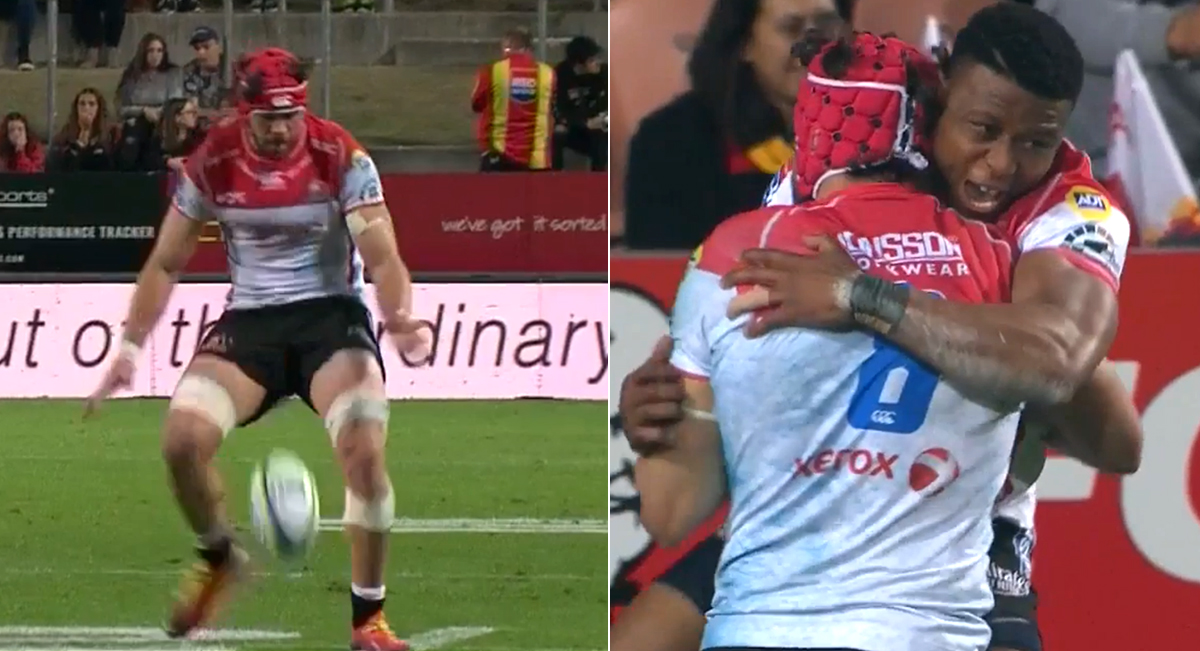 Whiteley skill assisted by odd shaped ball for great try in upset away from home
