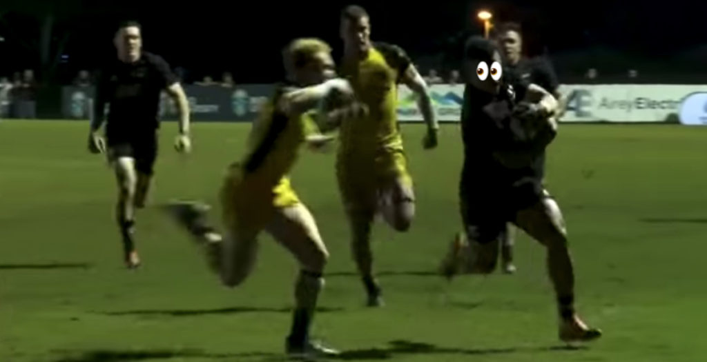 Wallabies youngster makes EPIC try-saving tackle