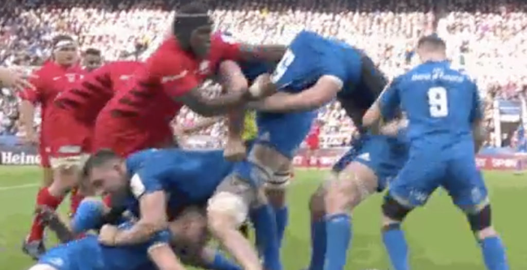 Maro Itoje demonstrates a new level of annoying against Leinster
