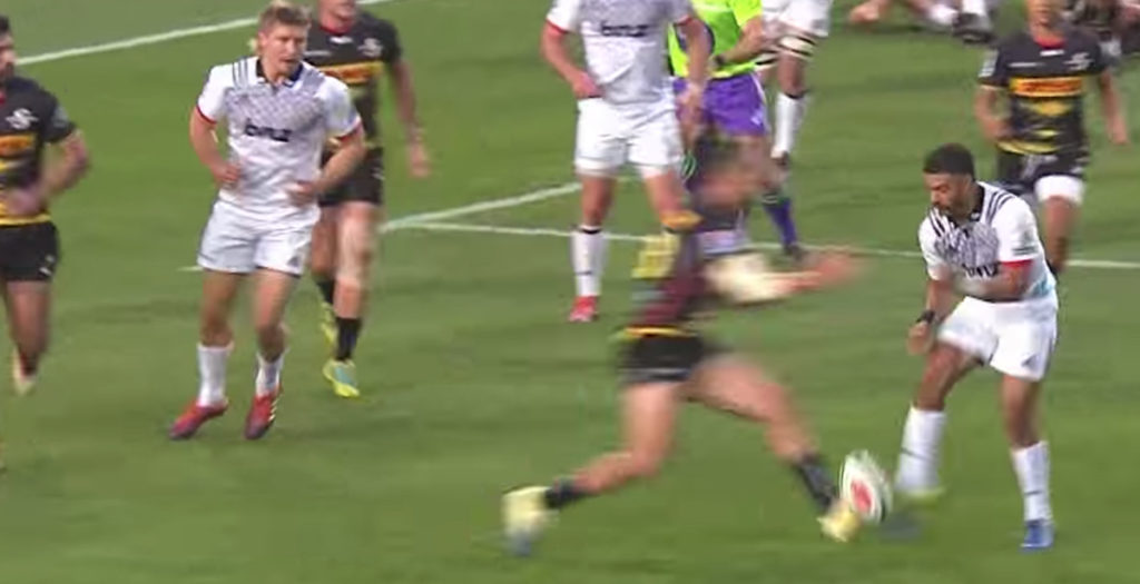 All Blacks star assists try with luckiest kick of the year
