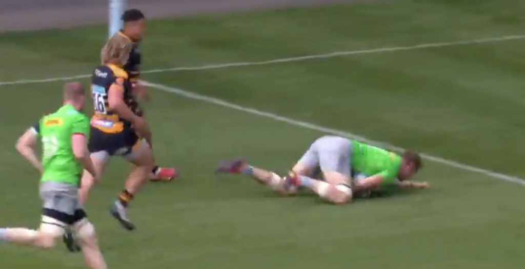 Harlequins player has hilarious shocker against Wasps to deny crucial try
