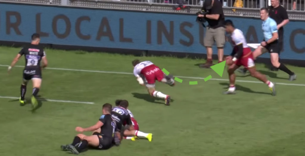 Hutchinson magic sets up wonder try against Exeter
