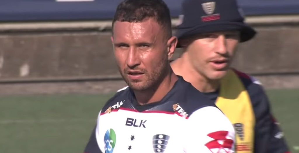 Quade Cooper shines for the Rebels with huge miss-pass