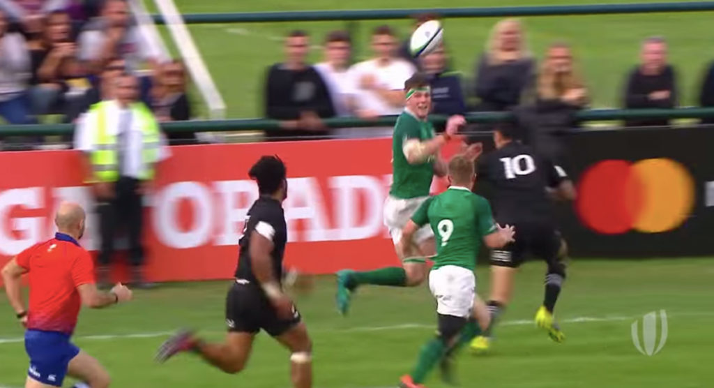 Clinical offloading produces stunning try for Ireland U20s against Baby Blacks