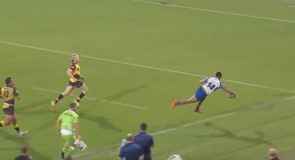 Samoan wing's brilliant touch creates stunning Rapid Rugby try