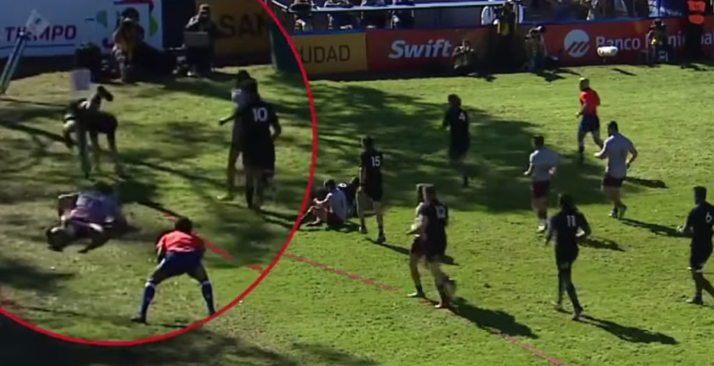All Blacks flanker scores miraculous diving try in U20s World Cup