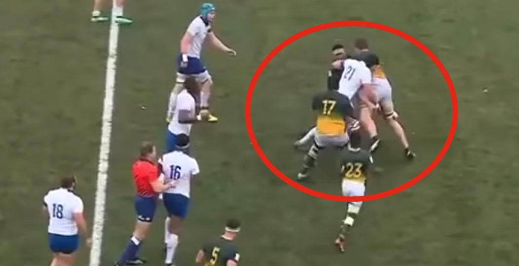 WATCH: Funny video mocks Springbok U20 after receiving huge hit