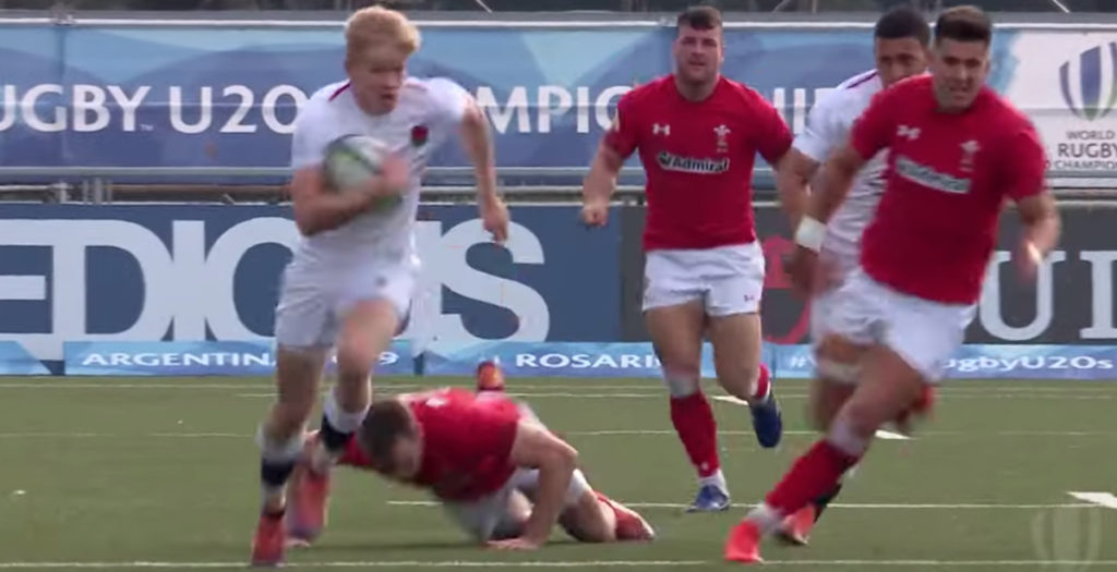 England youngster scores wonder try against Wales U20s
