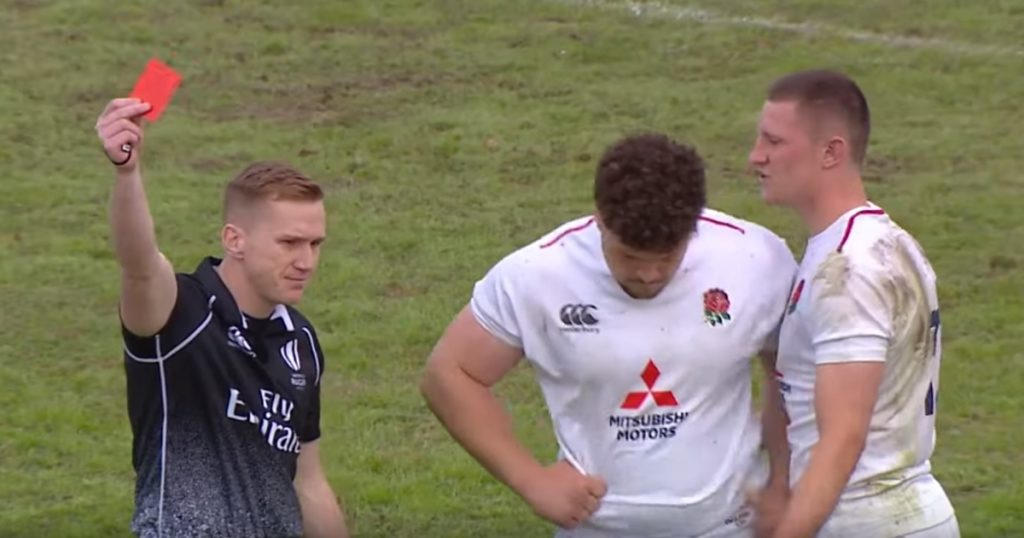 England's Alfie Barbeary dismissed for dangerous flip in U20 championship opening round