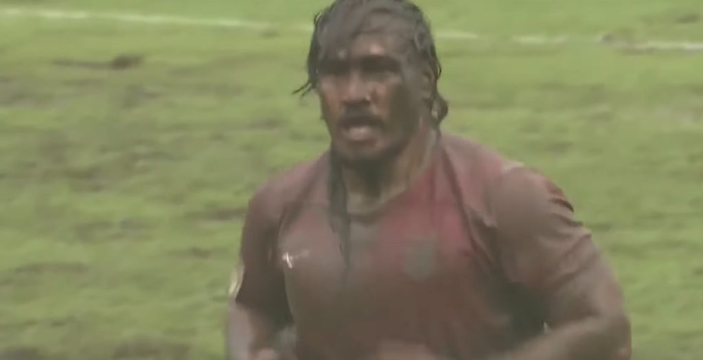 WATCH: Samoa and Tonga entertain in awful conditions