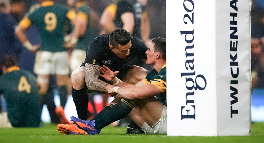 Jesse Kriel reflects on what Sonny Bill Williams said to him after the 2015 RWC Semi Final loss