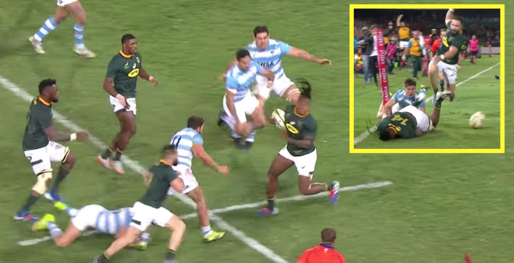 WATCH: Springbok uses unreal footwork to score fabulous solo try