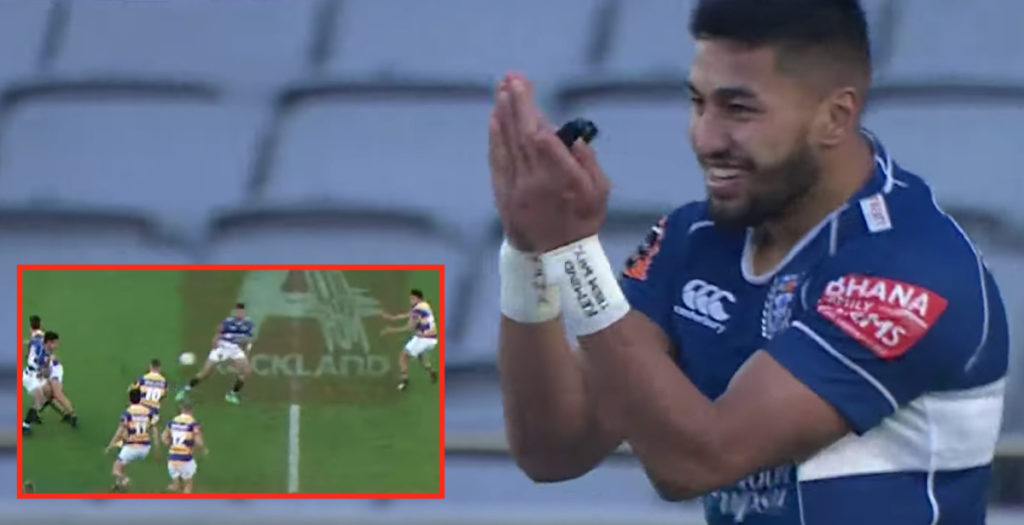WATCH: Ioane reads defence like a book to score simple interception