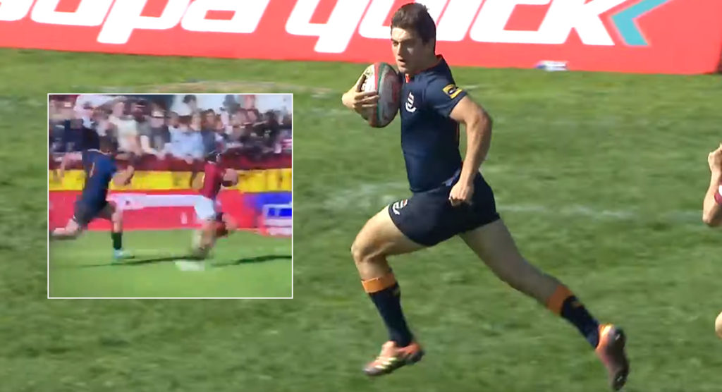 Schoolboy prop's incredible trysaver inspires unbelievable coast to coast try