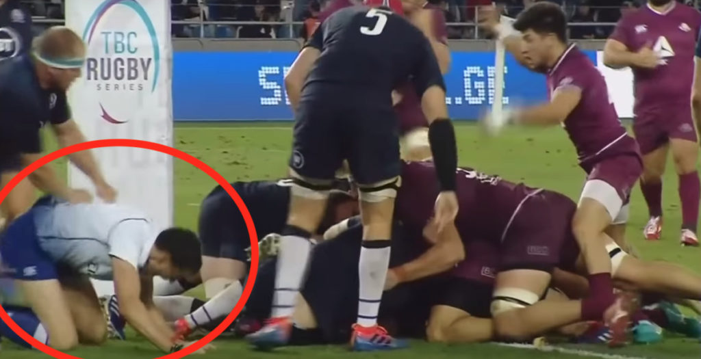 'Absolutely shocking' call as referee takes an age to award Georgia try