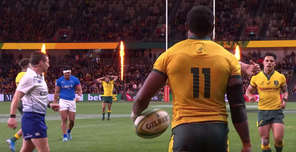 Powerful Koroibete try sparks Wallaby excitement heading to Japan