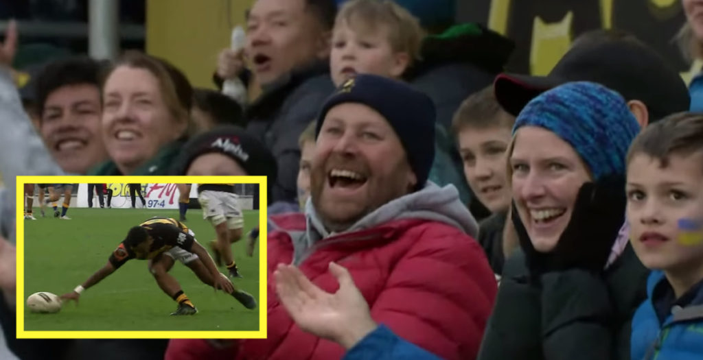 Shocking drop has crowd laughing in Mitre 10 Cup