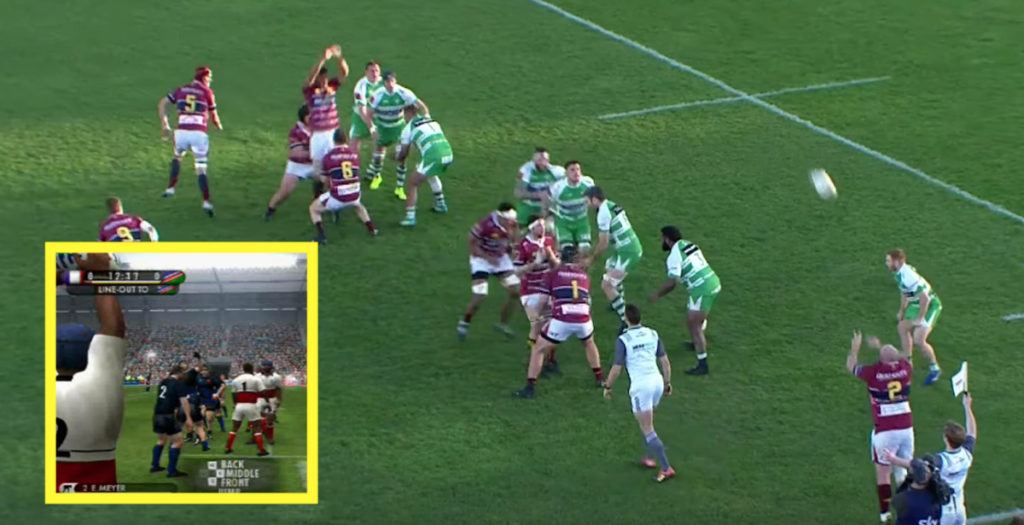 Perfect lineout move tees up try reminiscent of Rugby 08
