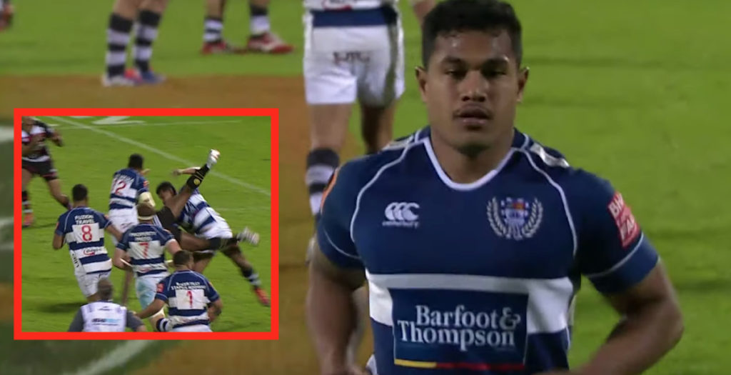 Auckland centre gets away with just yellow after nasty dump tackle