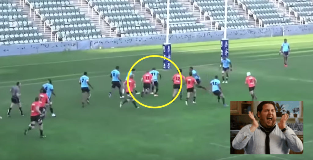 WATCH: Fijian wingers combine football and rugby in EPIC 90-metre score