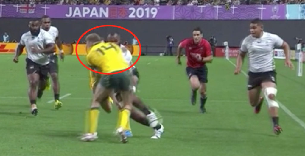 Reece Hodge goes unpunished for reckless tackle on Fijian star