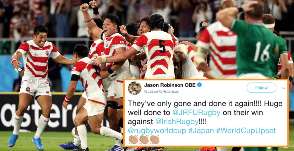 Japan stun Ireland: How the rugby world reacted