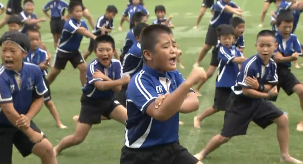 Japanese school kids are taking their Haka performances to another level