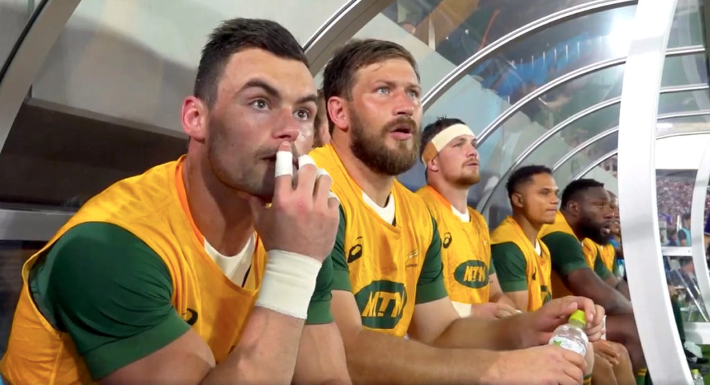 Springboks bench almost lose their voices in unique match footage