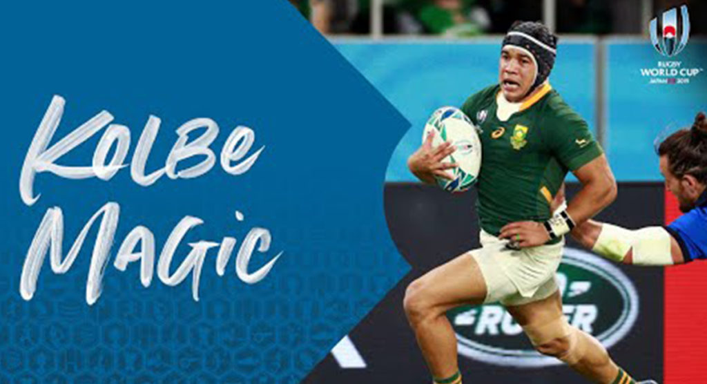 Cheslin Kolbe's magic feet are lighting up the World Cup