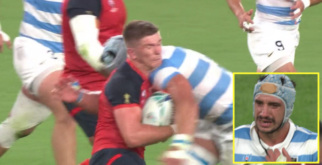 WATCH: Lavanini sent off for high tackle on Owen Farrell
