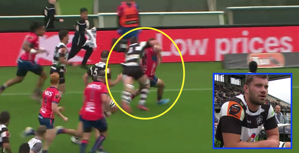 Horror high tackle only gets yellow in Mitre 10 Cup