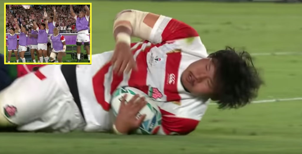 Re-live THAT epic Japan try against Scotland