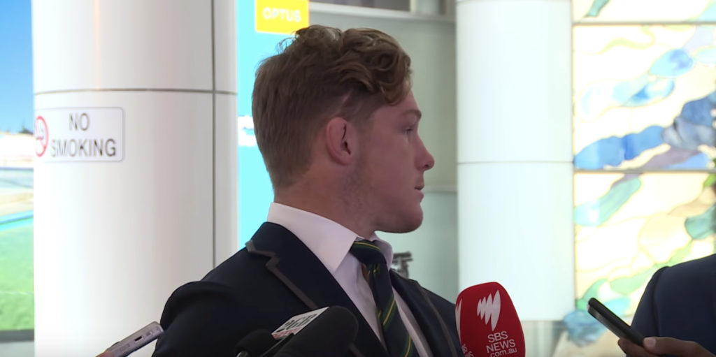 Hooper displays incredible restraint on return home as he is scrutinised by the media and a fan appears to heckle him