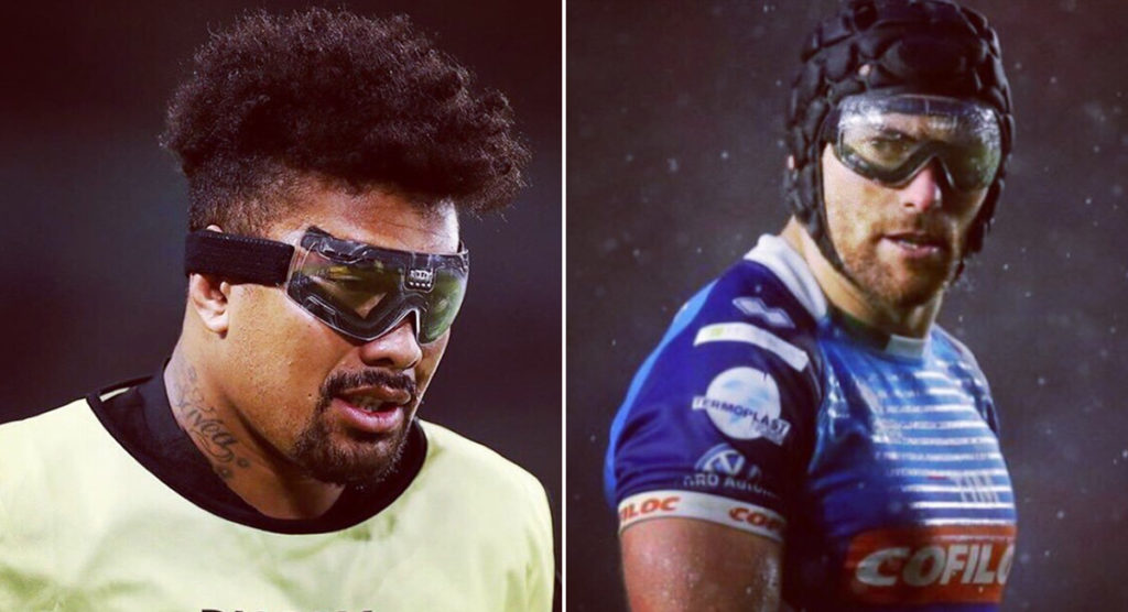 Pioneer McKinley reacts as Savea introduces goggles to RWC