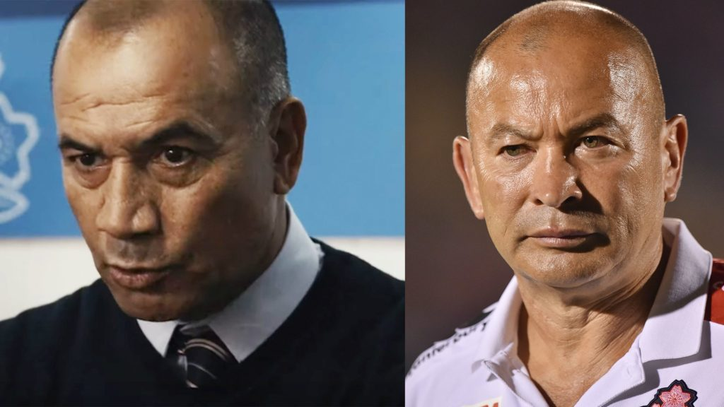 'Jake the Muss' plays Eddie Jones in dramatic new film made about Japan's win over South Africa