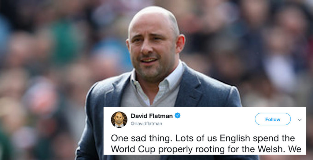 Flatman angers Welsh fans with Twitter comments