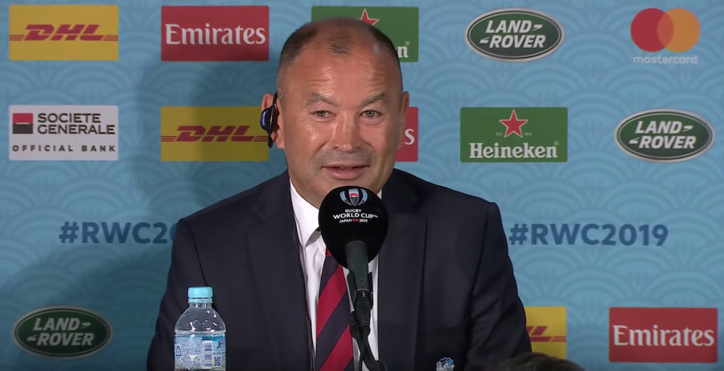 WATCH: Eddie Jones remains upbeat in post-final conference