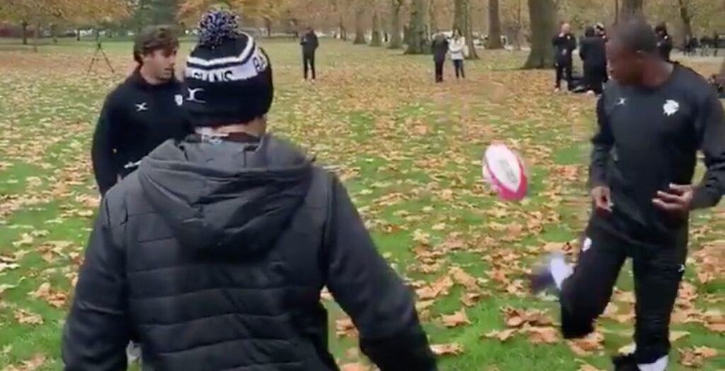 Barbarians show off footy skills ahead of Fiji game