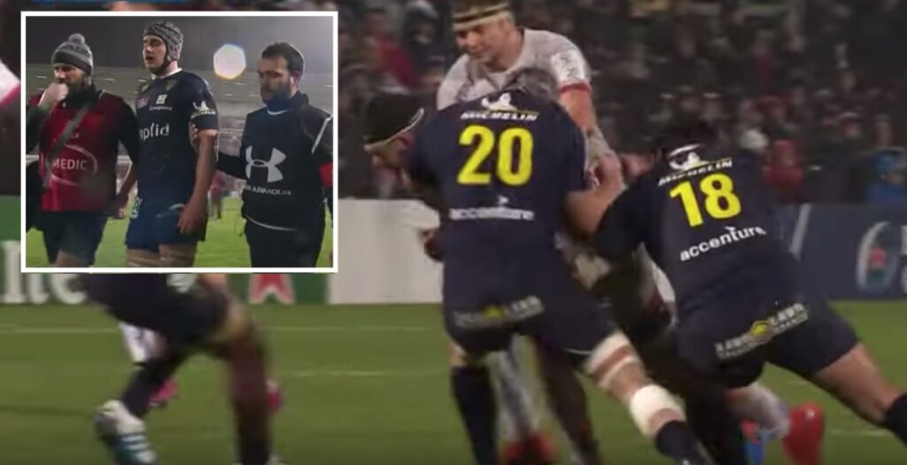 Ugly head injury ends 20-year-old Clermont debut early