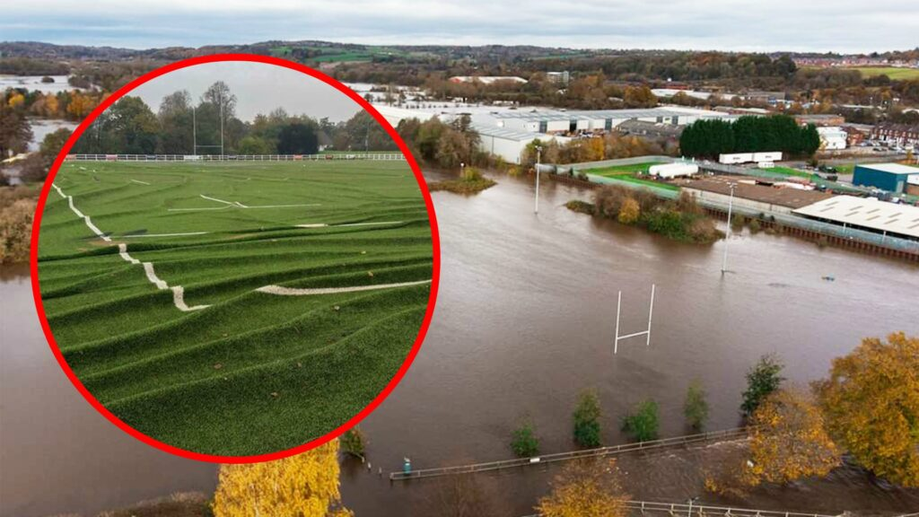 Derby RFC in need of £10,000 after flooding destroys 4G Pitch - Video footage