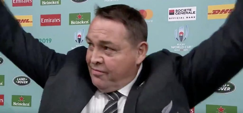 Steve Hansen gets emotional as he salutes crowd after final New Zealand win