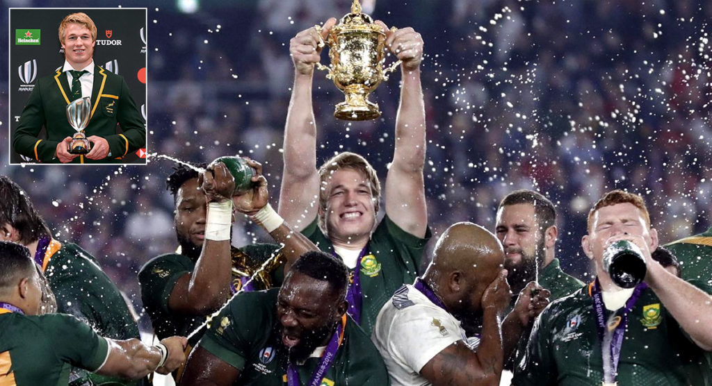 Pieter Steph du Toit named World Rugby Player of the Year in Tokyo