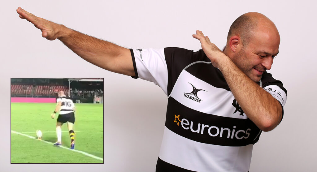 Hooker Rory Best bows out in style with surprisingly good conversion for the Barbarians