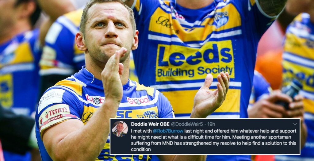 REACTION: Rob Burrows diagnosed with Motor Neurone Disease