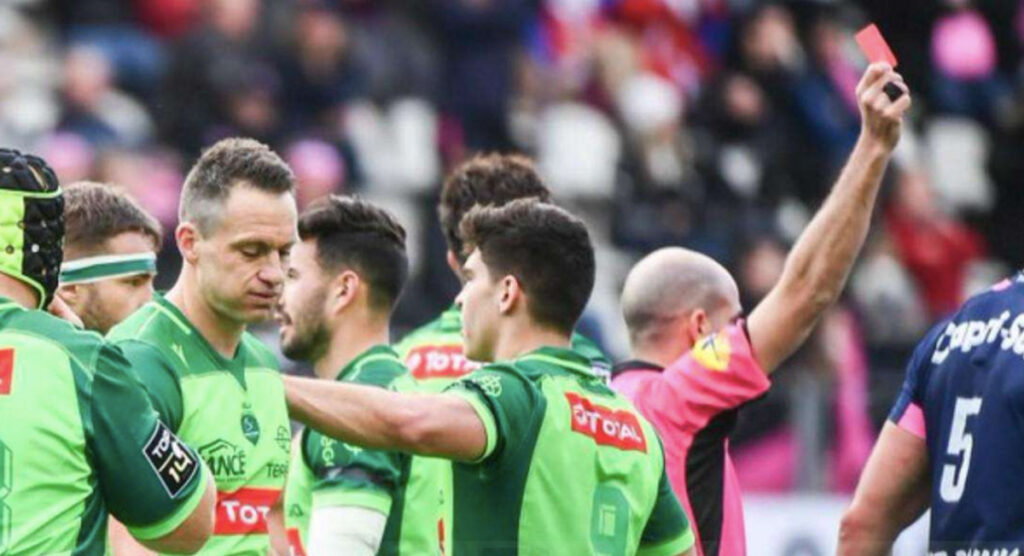 Ben Smith's Top 14 debut ended in disaster after this fend was deemed illegal