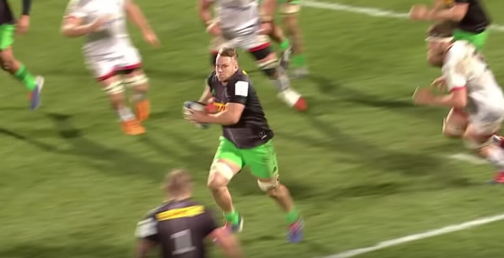 Dombrandt intercept sets up AWESOME counter attack try for Quins