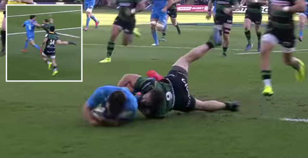 WATCH: Unreal Reinach tackle denies brilliant Leinster try